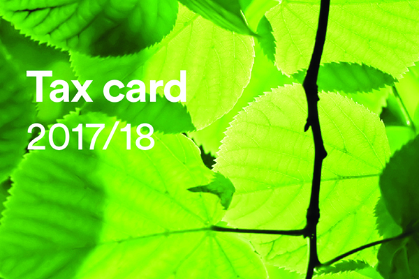 Tax card website image