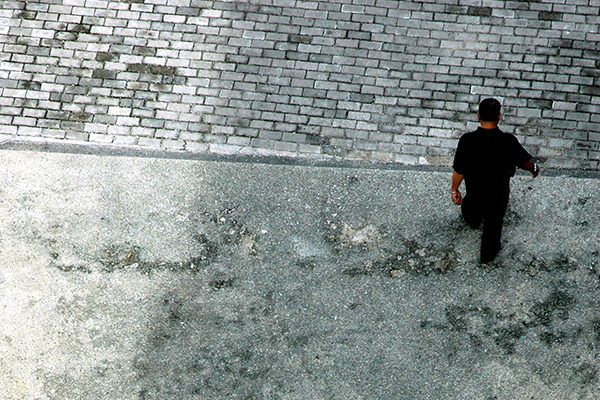 Person on own from above 600x400