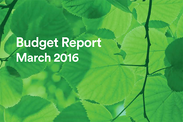 "Budget 2016: ""Doing the right thing for the next generation"""