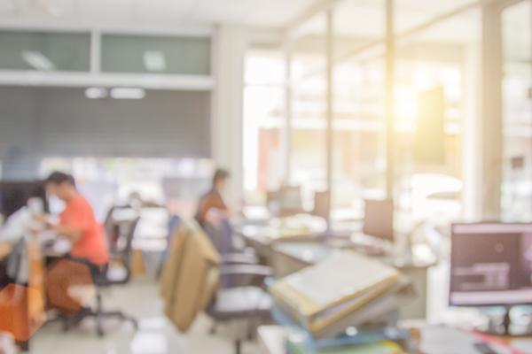 Blurred office 600x400